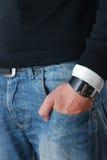 джинсовая ткань уточнила Стоковая Фотография RF