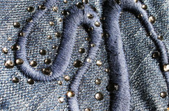 джинсовая ткань Стоковое Изображение