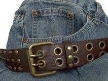 джинсовая ткань 2 поясов Стоковое фото RF