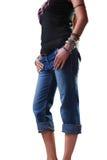 джинсыы девушки Стоковые Изображения RF