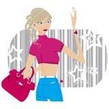 джинсыы девушки Стоковые Фото