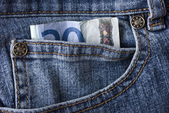 джинсыы евро спаривают 20 Стоковая Фотография