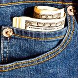 джинсыы кредиток много pocket Стоковые Изображения