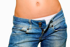 джинсыы открепили женщину Стоковое Изображение RF
