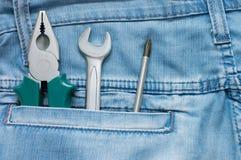 джинсыы сини 4 pocket ключи Стоковое фото RF