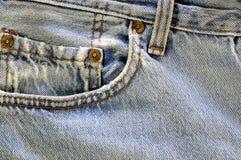джинсыы pocket выдержано стоковое изображение