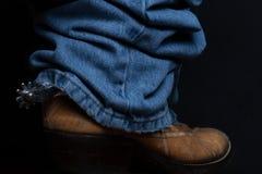 Джинсы и ботинки ковбоя Стоковые Фотографии RF