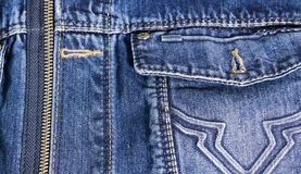 Джинсы подпирают карманн и застежка-молнию Стоковое Фото