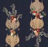 Джинсы текстурируют цветки вышивки бесплатная иллюстрация