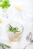 Джин, лимон, fizz розмаринового масла, коктеиль Стоковая Фотография RF