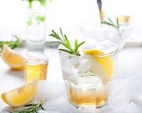 Джин, лимон, fizz розмаринового масла, коктеиль Стоковая Фотография