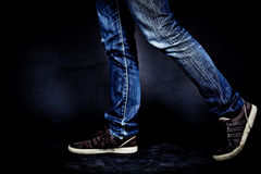 Джин популярные брюки Стоковые Фото