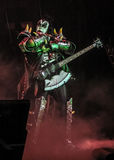 Джин Simmons, басист для поцелуя рок-группы стоковые фотографии rf