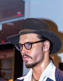 Джонни Депп, актер, на музее воска Мадам Tussauds в Лондоне Стоковая Фотография RF