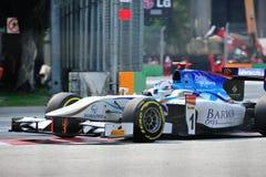 Джонни Cecotto участвуя в гонке в Сингапур GP2 2012 Стоковые Фотографии RF