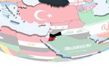 Джордан с флагом на глобусе бесплатная иллюстрация