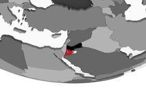 Джордан с флагом на глобусе иллюстрация вектора