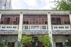 ДЖОРДЖТАУН PENANG, МАЛАЙЗИЯ - 13-ое декабря 2015: Изображение домов красивого наследия колониальных в Джорджтауне, Penang, Малайз Стоковая Фотография