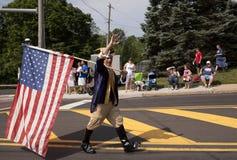 Джордж Вашингтон с американским флагом Стоковые Фото