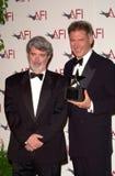 Джордж Lucas, Harrison Ford стоковое фото