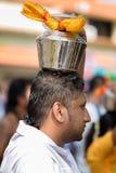 Джорджтаун, Penang, Малайзия - 9-ое февраля 2017: Индусский подвижник Стоковая Фотография