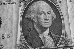 Джордж Вашингтон на одной долларовой банкноте Стоковое Изображение RF