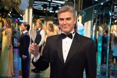 Джордж Clooney в музее Grevin диаграмм воска в Праге Стоковая Фотография RF