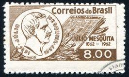 Джулио Mesquita напечатанное Бразилией Стоковая Фотография