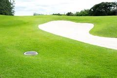 Дзоты песка на поле для гольфа Стоковое Фото