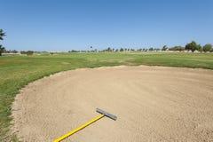 Дзот на поле для гольфа стоковая фотография rf