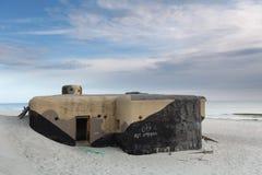 дзот пляжа стоковое изображение