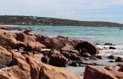 дзот утесистый s пляжа залива стоковое фото
