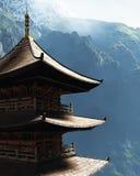 Дзэн буддийского виска Стоковое Изображение