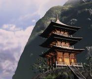 Дзэн буддийского виска бесплатная иллюстрация