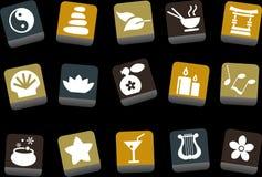 Дзэн иконы установленное бесплатная иллюстрация