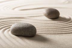 Дзэн камня песка принципиальной схемы Стоковая Фотография