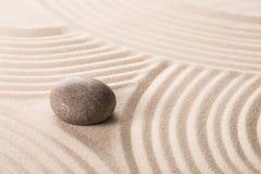 Дзэн камня песка принципиальной схемы Стоковое Изображение