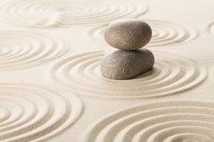 Дзэн камня песка принципиальной схемы Стоковые Фото