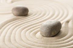Дзэн камня песка принципиальной схемы Стоковое Фото