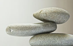 Дзэн камня спы камушков медицинского соревнования принципиальной схемы Стоковое Фото