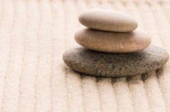 Дзэн песка каменное Стоковая Фотография RF