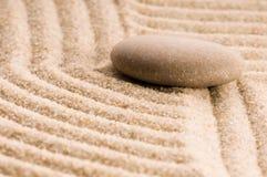 Дзэн песка каменное Стоковое Изображение