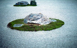 Дзэн ryoanji утеса сада стоковая фотография