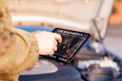 Диагностики автомобиля цифров Стоковое Изображение