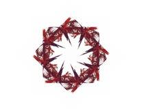 Диаграмма абстрактной агрессивной фрактали красная черная Стоковое Изображение