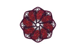 Диаграмма абстрактной агрессивной фрактали красная черная Стоковое Изображение RF