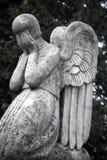 Диаграмма ангела который плачет Символ скорбы, влюбленности, invisi Стоковое фото RF
