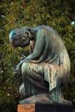 Диаграмма ангела который плачет Символ скорбы, влюбленности, invisi Стоковая Фотография RF