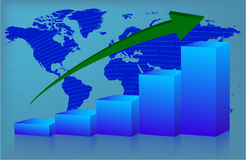 диаграмма вверх по миру Стоковая Фотография