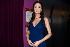 Диаграмма воска Angelina Jolie, Музея Вены Мадам Tussaud's стоковые изображения